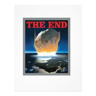 the asteroid end letterhead design