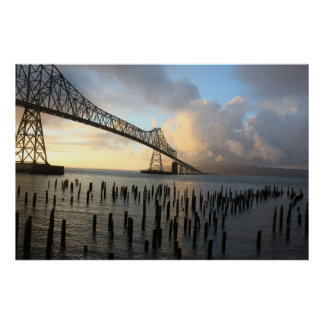 The Astoria-Megler Bridge At Sunset Poster