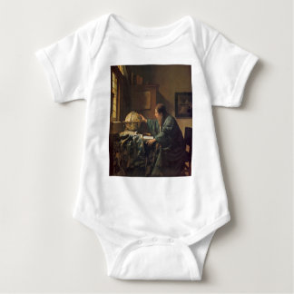 The Astronomer by Johannes Vermeer Baby Bodysuit