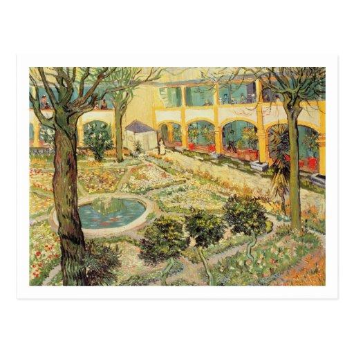The Asylum Garden at Arles, 1889 (oil on canvas) Post Cards