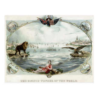 The Atlantic Cable Vintage Poster 1866 Restored Postcard