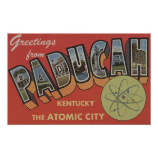 The Atomic City - Large Letter Scenes Poster