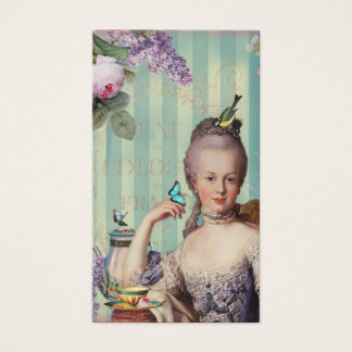 Thé au Petit Trianon on ivory with teapot Business Card
