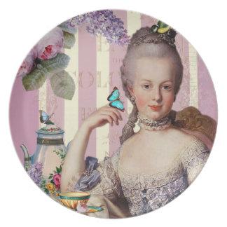Thé au Petit Trianon – rose Party Plates