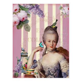 Thé au Petit Trianon – rose Postcard