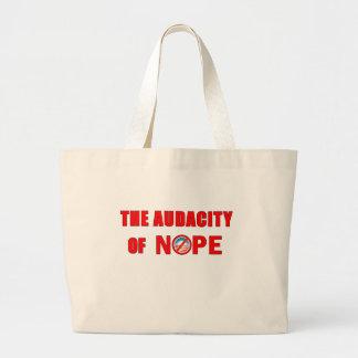 The Audacity of NOPE Jumbo Tote Bag