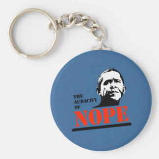 THE AUDACITY OF NOPE KEY CHAIN