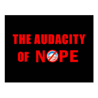 The Audacity of NOPE Postcard