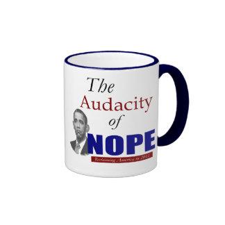 The Audacity of NOPE! Ringer Coffee Mug