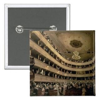 The Auditorium of the Old Castle Theatre, 1888 2 Inch Square Button