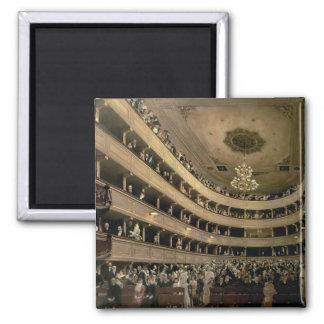 The Auditorium of the Old Castle Theatre, 1888 Square Magnet