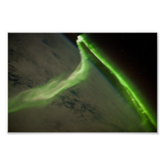 The Aurora Australis Seen From Space Poster
