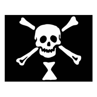 The authentic pirate flag of Emanuel Wynne Postcard
