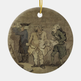 The Author and his Publisher, 1784 (grey wash and Round Ceramic Ornament