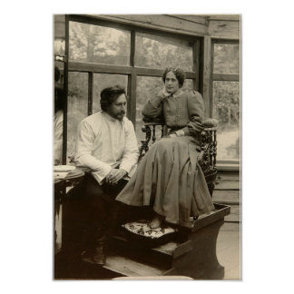 The author Leonid Andreyev with his wife Poster