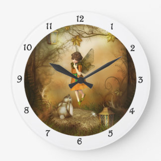 The Autumn Fairy Wall Clock