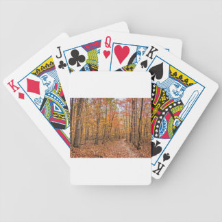 The Autumn Trail Bicycle Playing Cards