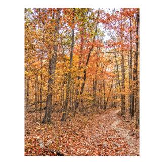 The Autumn Trail Custom Letterhead