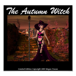 The Autumn Witch Print