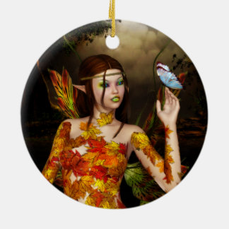 The Autumnal Fae Round Ornament