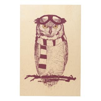 The aviator wood print