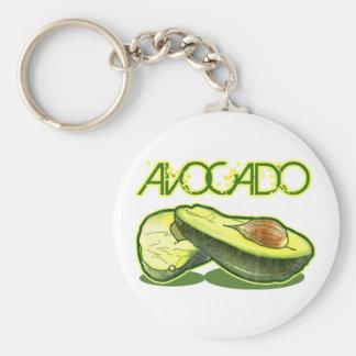 The Avocado Basic Round Button Keychain