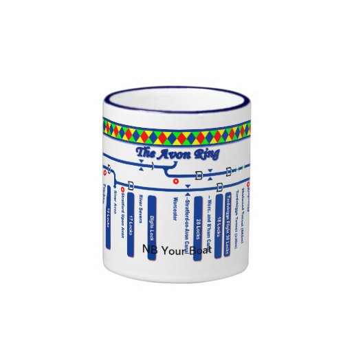 The Avon Ring Canal Route Map Mugs