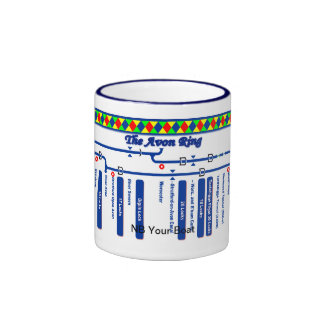 The Avon Ring Canal Route Map Ringer Coffee Mug