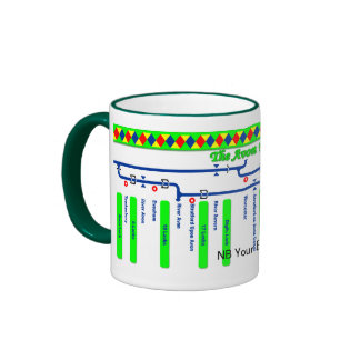 The Avon Ring Canal Route Map Ringer Mug
