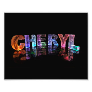 The  Awesome Name Cheryl in 3D Lights Photographic Print