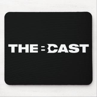 """The B-Cast"" black mousepad"