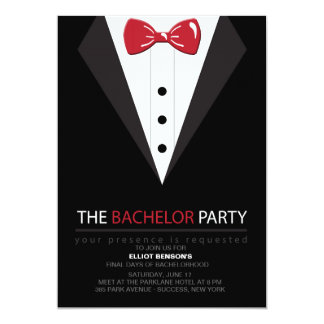 The Bachelor Party Invitation