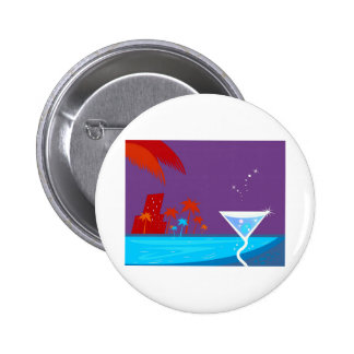 The bachelorette party Edition with palms 2 Inch Round Button