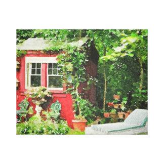 The Back Garden Canvas Prints