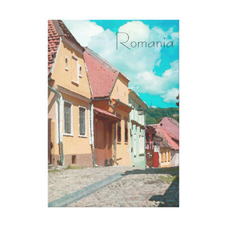 The Back Streets of RomaniaTravel Poster Style Canvas Print