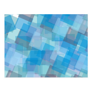 the-background-387205 ASSORTED BLUE LAYERED SQUARE Postcard