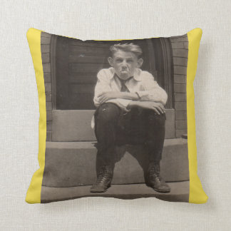 the bad attitude throw pillow