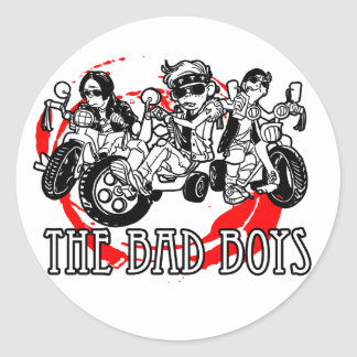 The Bad Boys of tricycle Round Sticker