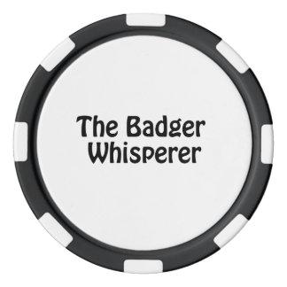 the badger whisperer poker chips