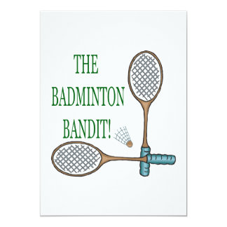The Badminton Bandit 2 Card