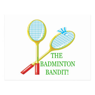 The Badminton Bandit Postcard