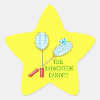 The Badminton Bandit Star Sticker