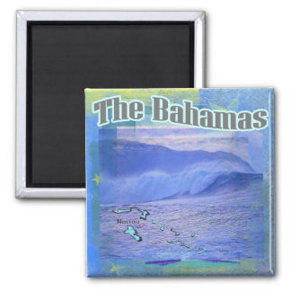 The Bahama Waves Square Magnet