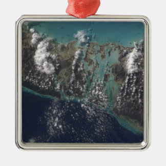 The Bahamas' Andros Island 2 Silver-Colored Square Ornament