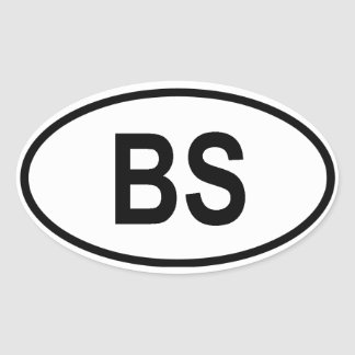 "The Bahamas ""BS"" Oval Sticker"