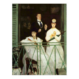 The Balcony - Edouard Manet Postcard