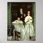 The Balcony - Edouard Manet Poster