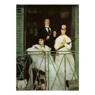 The Balcony - Edouard Manet Poster