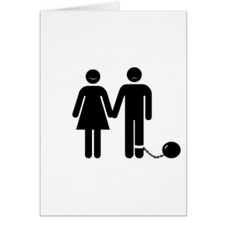 The Ball and Chained groom Greeting Cards