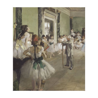 The Ballet Class by Edgar Degas Canvas Print